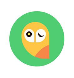 owl logo template design emblem design vector image