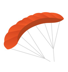 Paraglider cartoon vector