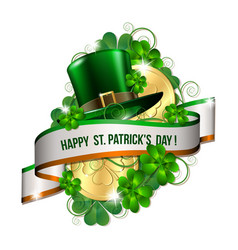 patrick day card vector image