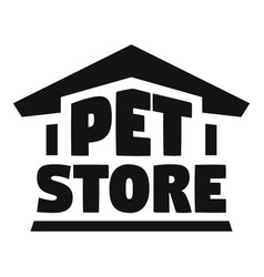 pet store logo simple style vector image