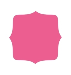 Pink badge icon vector