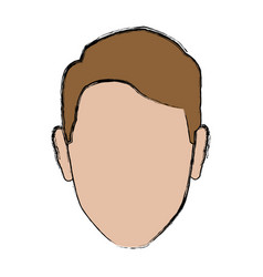 Profile man male avatar face vector