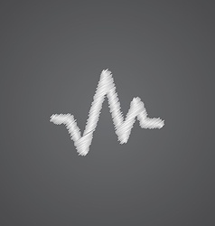 Pulse sketch logo doodle icon vector