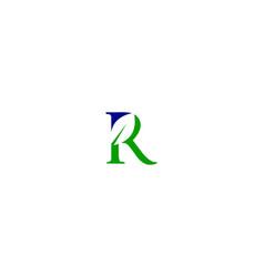 r letter leaf logo vector image