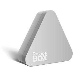 Realistic gray package triangular shape box vector