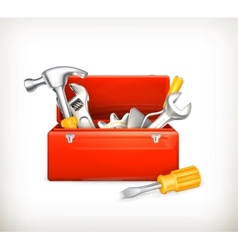 Red toolbox vector image