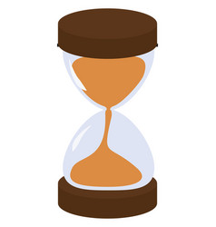 sand clock on white background vector image