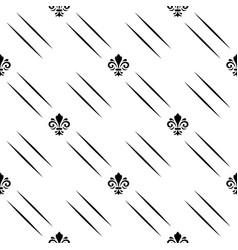 seamless pattern modern geometric black vector image