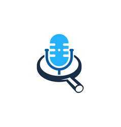 search podcast logo icon design vector image