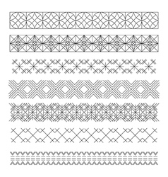 Set of line geometric hipster vintage design vector