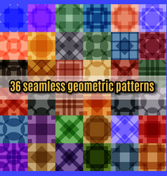 Set of seamless geometric pattern vector