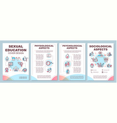 Sexual education brochure template vector