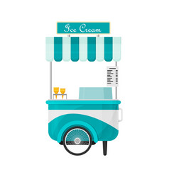 Shiny colorful ice cream cart vector