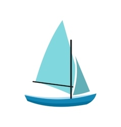 Ship yachts icon vector image