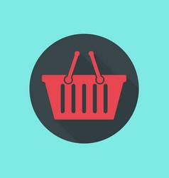 shopping basket icon web design vector image