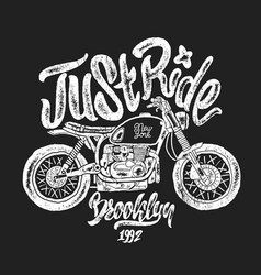 sketch motorcycle brooklyn t shirt prints vector image