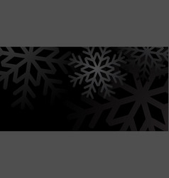 snowflake black background vector image