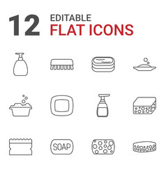 soap icons vector image