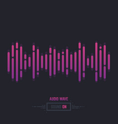 sound wave audio vector image