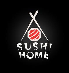 sushi logo concept japanese food restaurant logo vector image