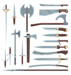 sword medieval ancient weapon of knight vector image