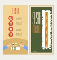 The abstract image of a menu with sushi vector image