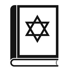 Torah book icon simple style vector