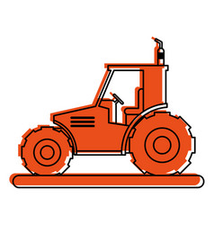 Tractor sideview icon image vector