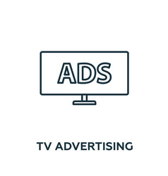 tv advertising icon symbol creative sign from vector image