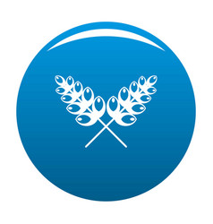 Wheat icon blue vector