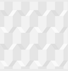 white geometric 3d texture seamless decorative vector image