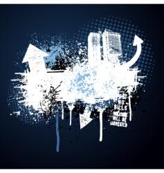 dark blue grunge city frame vector image vector image