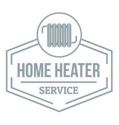 heater logo simple gray style vector image