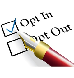 Opt In choice option vector image vector image