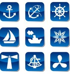 sail icons vector image