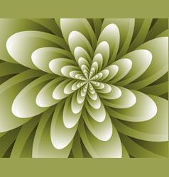 Abstract optical flower background vector