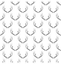 Animal Horns Seamless Pattern vector image vector image