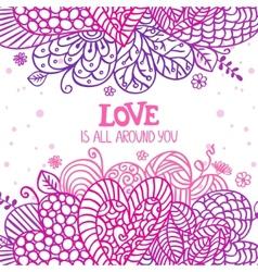 love is around vector image vector image