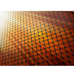 Red rays light 3D mosaic EPS 10 vector image