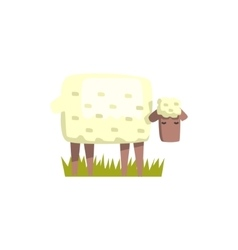 Sheep Toy Farm Animal Cute Sticker vector image
