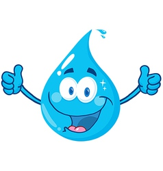 Smiling Water Drop vector image