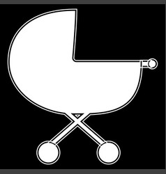 baby carriage the white color icon vector image