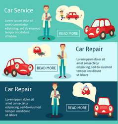 car service manager banners set vector image