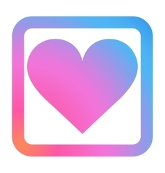 Heart Icon in trendy color vector image