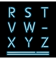 Neon Light Alphabet 3 vector image