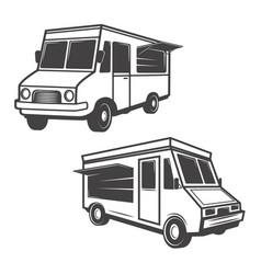 set of food trucks isolated on white background vector image