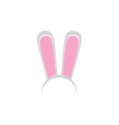 White easter bunny funky mask with rabbit ears vector