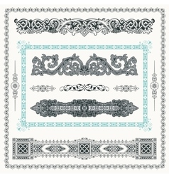 Baroque Set of vintage decor elements calligraphic vector image vector image