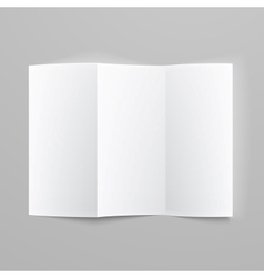Blank trifold paper z-folded brochure vector image vector image
