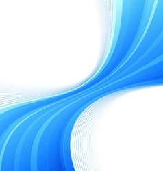 Blue swoosh lines border divided wave vector image